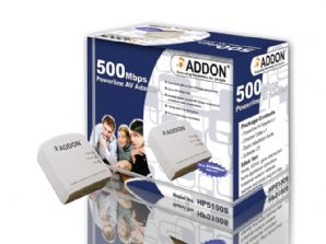 Addon HP5100S AV500 Powerline Adapter - Single Pack - 500Mbps Homeplug AV - UK Plug